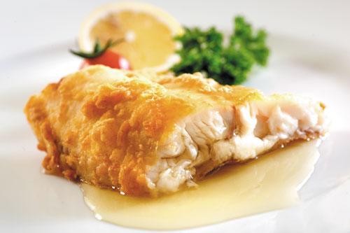 Lemon butter sauce seabass