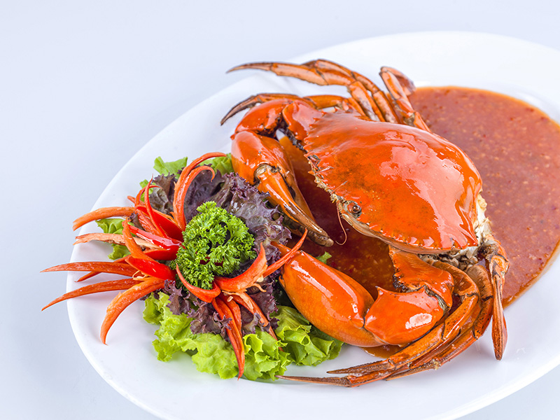 Crab with tamarind sauce
