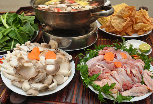 Viet Nam hotpot of chicken